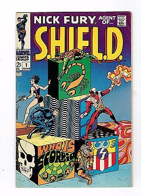Nick Fury Agent Of S.H.I.E.L.D. 1 Fn/vf 7.0 First Scorpio shield Silver Age Key