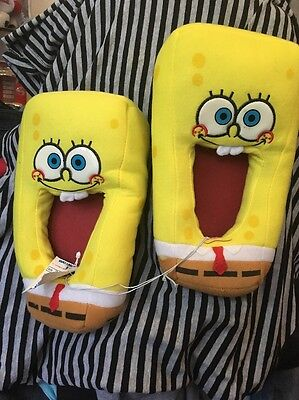 Spongebob Squarepants Children's Slippers Size 2 3 New With Tags