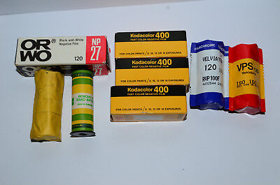 120 Film Lot Of 8 Roll, Expired Film
