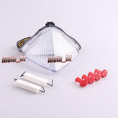 Clear LED Lamp Brake Turn Signals Tail Light for Yamaha YZF R1 2004-2006 ht