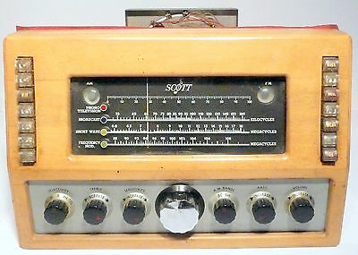vintage * SCOTT RADIO Untested  TUNER CHASSIS model 800 w/14 TUBES/cables/AERIAL