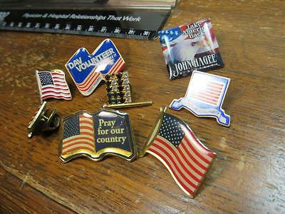 Patriotic Flag USA Costume Pin Lot 4th of July  Misc   (17F1)