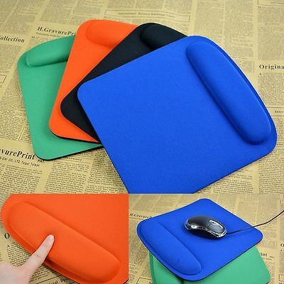 Comfort Wrist Mouse Pad Mat Optical Black Mousepad Mice Gaming Computer PC JF