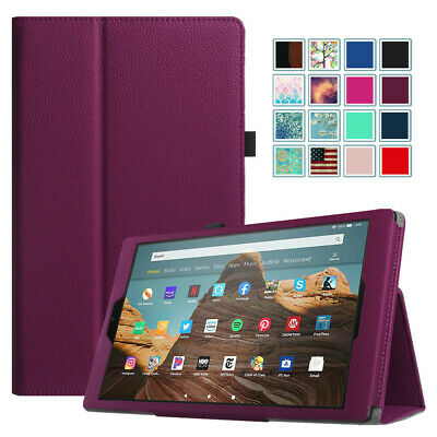 For New Amazon Fire HD 8 7th 2017/ HD 10 PU Leather Folio Smart Stand Case Cover