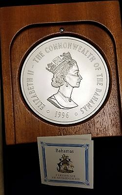 1996 Bahamas $50 Two Kilo, 64.3 ozt, .999 Fine Silver Coin