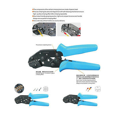Adjustable Wire Stripper Crimping Pliers Multifunctional Ratchet Terminal Tool