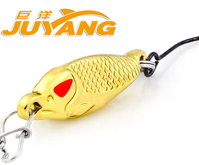 JUYANG Razor Fishing Metal Spoons Freshwater Tiny One Hook Lure Baits 2.2g