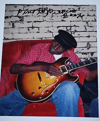 RARE Pine Top Perkins signed 8x10 boldly signed  Blues Legend  Muddy Waters band