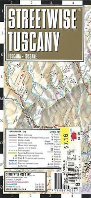 Map of Tuscany, Italy, by Streetwise, Road Map