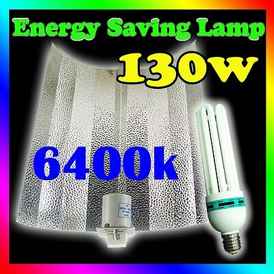 130W 6400k CFL grow light Hydroponics energy saving kit Bat Wing Reflector