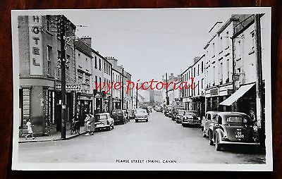 Pearse Street Main Cavan - Real Photo Postcard 1961 Cars People