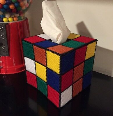 Rubik's Cube Tissue Box Cover As Seen On the Big Bang Theory