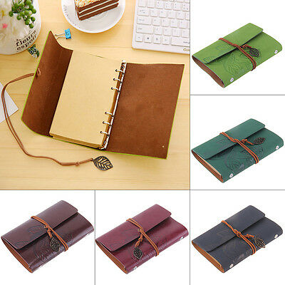Classic Retro Vintage Notebook Leather Blank Diary Note Book Journal Sketchbooks