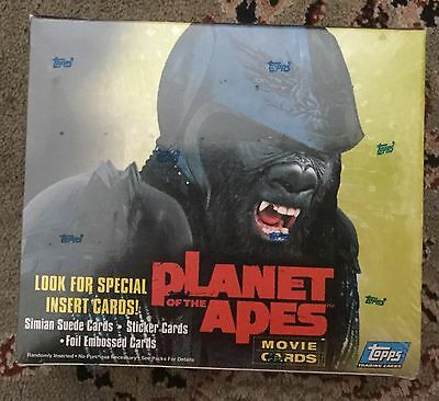 Planet Of The Apes Topps Sealed Trading Card Box