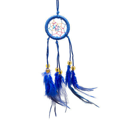 Blue Dream Catcher With Feathers Wall Hanging Bedroom Decoration Ornament Gifts