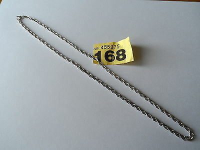 Vintage Silver 925 Hm 1999 Rope Twist Neck Chain Necklace Wght 9.7 Length 19 In