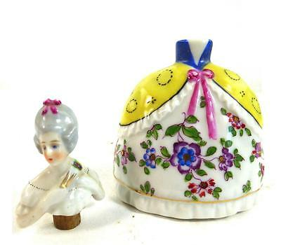 C1930S Goebel Porcelain Perfume Scent Bottle Figurine Hand Painted