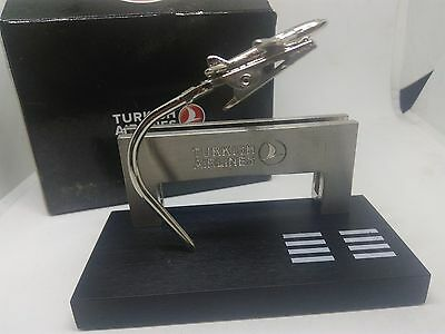 Rare boxed Turkish airlines Business card holder stand desk
