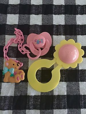 Zapf Creations Baby  CHOU CHOU Doll,  Rattle + Dummy with Chain & Teddy Clip