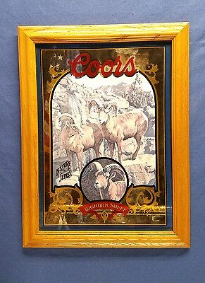 Coors Nature No 2 Series Bighorn Sheep Framed Mirror Picture