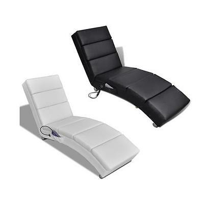 Black/White PU Leather Massage Chair Electric Recliner Lounge 8 Points Remote