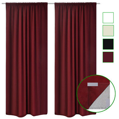 Blockout Curtains Double Layers Room Darkening Drape 140x245cm Multi Colours