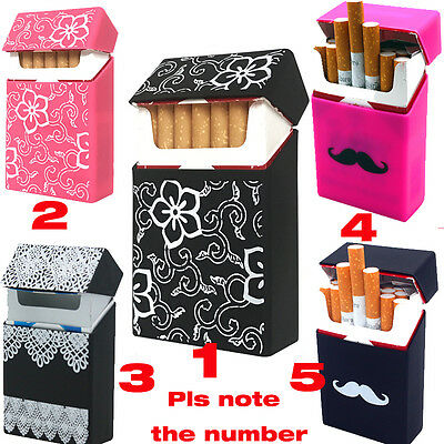 Portable Silicone Cigarette Case Box Smoking Accessories Holder Dispenser