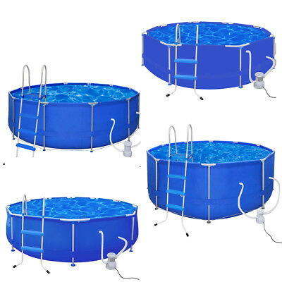 Above Ground Swimming Pool Round Inflatable Steel Frame Outdoor Folding Spa