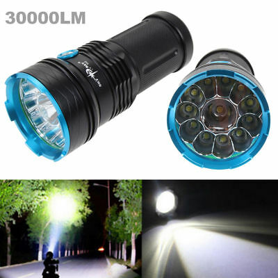 Super Bright 30000LM 12 XM-L CREE T6 LED lampe torche tactique lampe extér