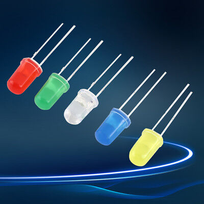 300Pcs 3mm 5mm LED Light White Yellow Red Blue Green Assortment Diodes Kit New