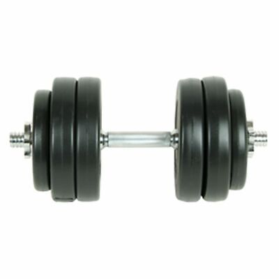 vidaXL Dumbbell Set 15kg Weight Barbell Gym Exercise Fitness Adjustable Plate