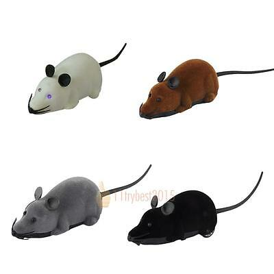 Souris drôle flash télécommande RC Rat Wireless Cat Dog Pet Toy Novelty