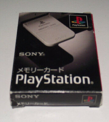 Boxed Genuine Sony Playstation 1 Memory Card 1MB Grey PS1 Official Preloved