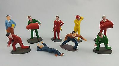 Vintage Scalextric slot car painted figures 1/32 scale