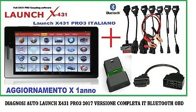 Diagnosi 2017 Launch X431 Pro3 Auto Diagnosi Multimarca + Cavi In Italiano Obd2