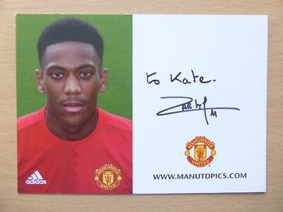 2016-17 Anthony Martial Signed Man Utd Club Card (10704)