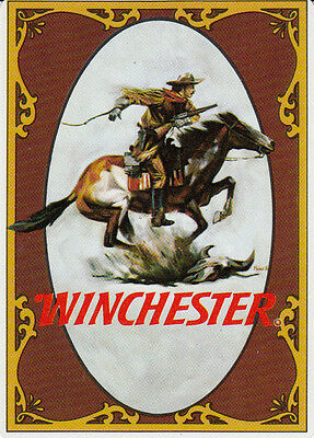 Genuine Swap / Playing Card -1 SINGLE - WIDE ADVERT - WINCHESTER RIFLES ADVERT