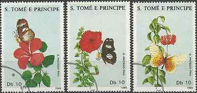 Timbres Papillons St Thomas et Prince 920/2 o lot 2320
