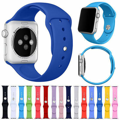 Strap Bracelet Band Sports Silicone Replace For Apple Watch 38mm/42mm M/L & S/M