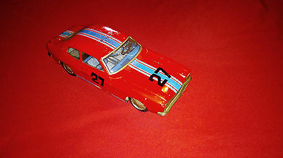 Vintage Tin Toy Friction Car Ford Capri Aoshin Made In Japan - Work
