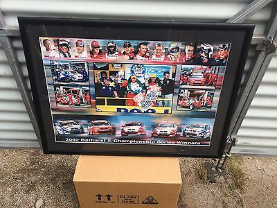 V8 SUPERCARS  -2002 Bathurst  & championship series  winners framed print