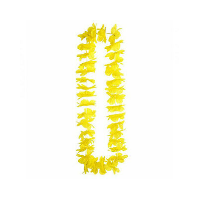 ★1 Collana Hawaiana Fiori Finti Feste Hawaiane Party Estate Colorate Giallo★