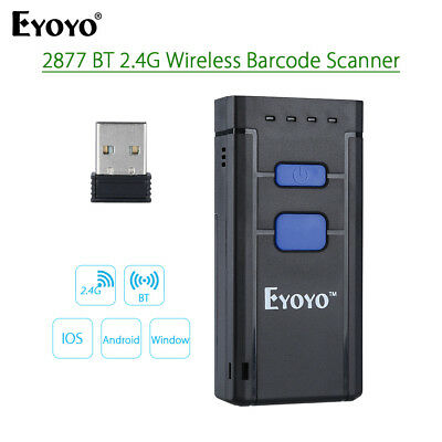 Bluetooth 4.0 Laser Barcode Scanner Reader For IOS Android Windows UP to 72 Hrs