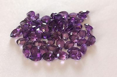 African Amethyst Lot of 9X7MM Pear Cut AA Quality Loose Gemstone For Jewelry
