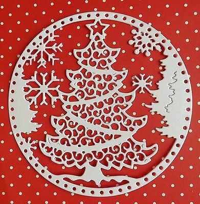 Tattered Lace Die Cuts.SNOWGLOBE CHRISTMAS TREE.Topper/ Season/ Christmas