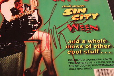 """THE CRAMPS Autographed/Signed LUX  INTERIOR """"Hypno"""" mag Poison Ivy punk W@W!!"""