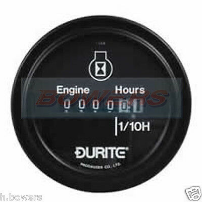 Durite 0-523-08 Circular Engine Hour Counter 10  To 80 Volt Dc