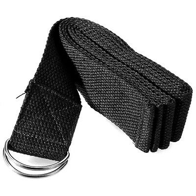 180cm YOGA Stretch Strap D Training Belt Waist Leg Fitness Tools Exercise Black