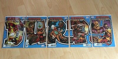 Deadpool The Duck 1 2 3 4 5 - Marvel Comics - Connecting Variant Cover Set
