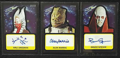 TOPPS STAR WARS JOURNEY FORCE AWAKENS LOT 3x GOLD STARFIELD AUTOGRAPH CARDS /50